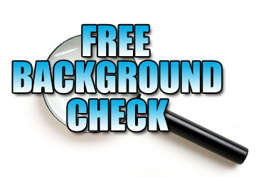 how to do a background check for free